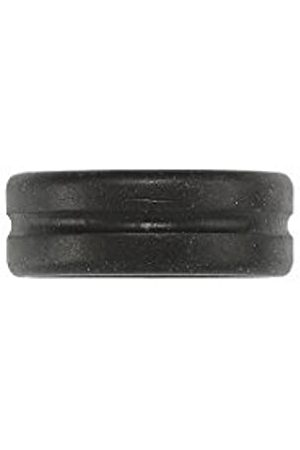 Icon Brand Men's Tarnished Single Silhouette Groove Detail Band Ring - Size - W