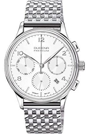 DUGENA Men's Premium Quartz Watch with Quartz Dial Chronograph Display and Stainless Steel Bracelet