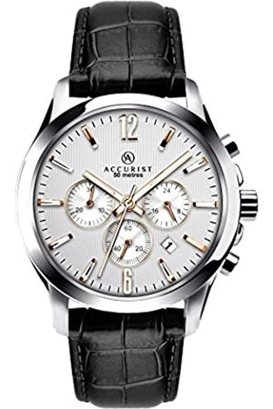 Accurist Mens Chronograph Watch with Leather Strap 7199.01