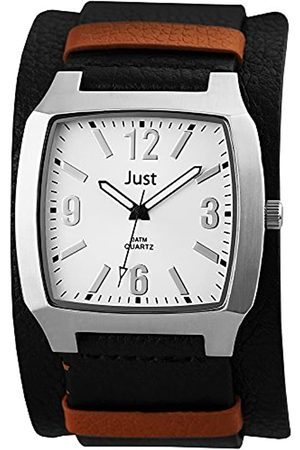 Just Watches Men's Quartz Watch 48-S10451-BK with Leather Strap