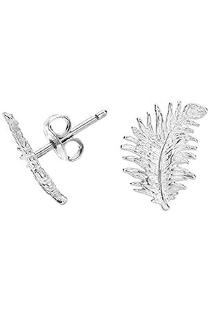 Dower & Hall Feather Sterling Stud Earrings
