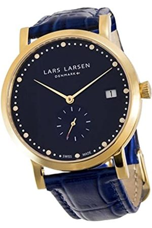 Lars Larsen Women's Quartz Watch with Dial Analogue Display and Leather Strap 137GDBL