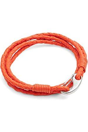 Tribal Steels. by Midhaven Men's Leather Bracelet, Vibrant Braided Double Wrap, Stainless Steel Shrimp Clasp, 21cm Standard Size Bracelet for Men