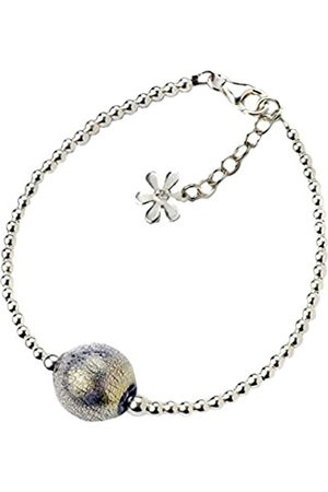 Amanti Venezia And Gold Murano Shimmer Sterling Silver Bracelet of Length 18.0-21.5 cm