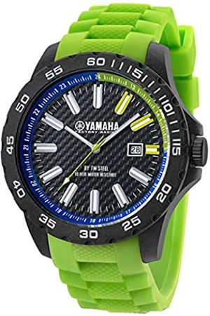 TW steel Women's Analogue Quartz Watch with Silicone Strap Y9