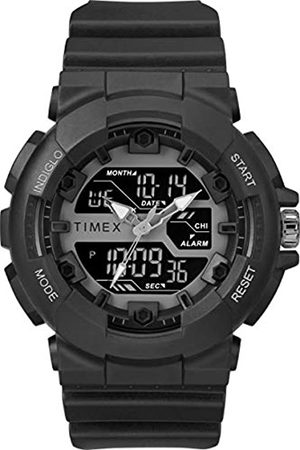 Timex Men's The HQ DGTL 50 mm Resin Strap Combo Watch TW5M22500