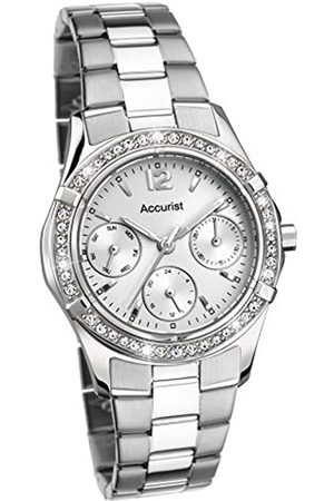 Accurist Womens Analogue Classic Quartz Watch with Stainless Steel Strap 8201