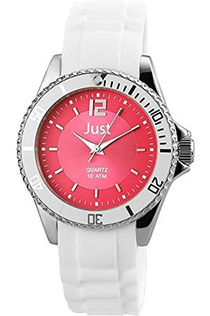 Just Watches Women's Quartz Watch with Black Dial Analogue Display Quartz Rubber 48 S3863 Pi