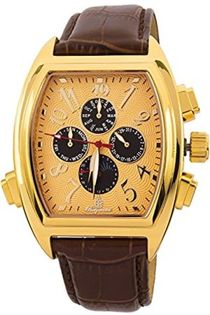 Burgmeister Men's Automatic Watch with Dial Analogue Display and Leather Bracelet BM131-275