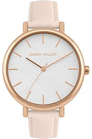 Karen Millen Women's Analogue Quartz Watch with Leather Strap KM188P
