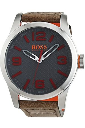 HUGO BOSS Orange Paris Men's Quartz Analogue Classic Leather Strap 1513351