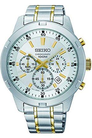 Seiko Mens Chronograph Quartz Watch with Stainless Steel Strap SKS607P1