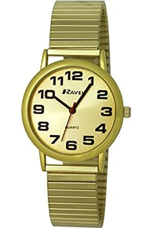 Ravel Easy Read Watch on Expandable Men's Quartz Watch with Dial Analogue Display and Stainless Steel Plated Bracelet R0208051S