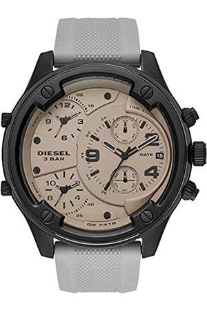 Diesel Mens Chronograph Quartz Watch with Silicone Strap DZ7416
