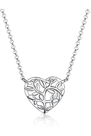 Heart Tree Of Life Pendant 64mm Antique Silver Plated Charm C6843-1 2 Or 5PCs