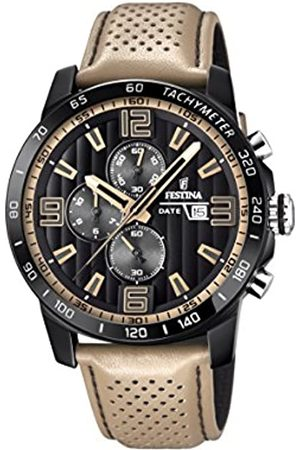 Festina The Originals collection' Men's Quartz Watch with Black Dial Chronograph Display and Leather strap F20339/1