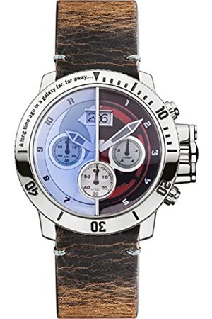 STAR WARS Unisex Quartz Watch with Dial Chronograph Display and Distressed Leather Strap STAR314