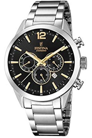 Festina Mens Chronograph Quartz Watch with Stainless Steel Strap F20343/4