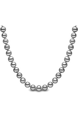 Kimura Kimura 7 mm Cultured Grey Freshwater Pearl 16-inch Necklace 9 ct