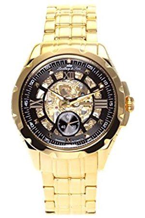 LINDBERG SK14H030 - wrist watch for men - skeleton - automatic movement analog display - black dial - Bracelet Acier Or