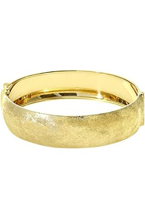 Citerna Yellow Plated Silver 1.7 cm Wide Brushed Dome Bangle