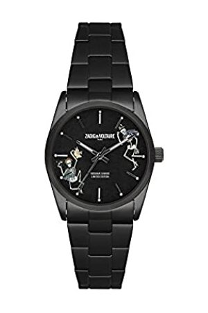 Zadig & Voltaire ZVF417 Unisex Quartz Watch with Printed Dial 36 mm and Silver Stainless Steel Bracelet