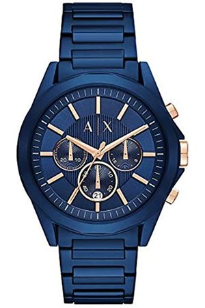 Armani Mens Chronograph Quartz Watch with Stainless Steel Strap AX2607
