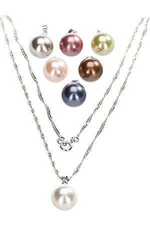 Berydale 7-Piece Mother of Pearl Pendant Set with Twisted Flat Curb Chain