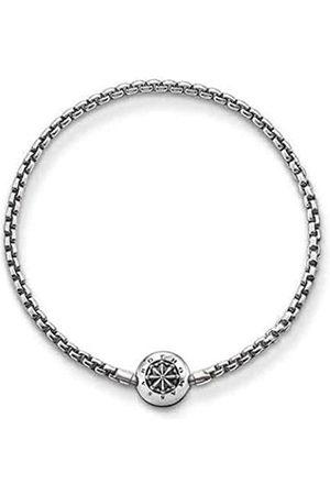 Thomas Sabo Women Men-Bracelet Karma Beads 925 Sterling blackened Length 18 cm KA0002-001-12-L19