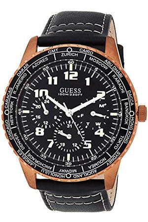Guess Men's Analogue Quartz Watch with Leather Strap W1170G2