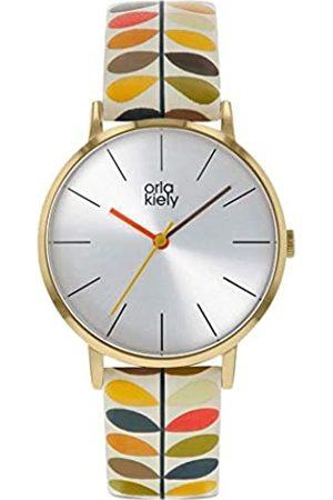 Orla Kiely Unisex Adult Analogue Classic Quartz Watch with Leather Strap OK2246