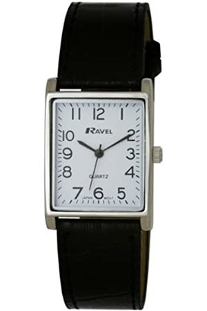 Ravel Large Case Fashion on PU Strap Women's Quartz Watch with Dial Analogue Display and Plastic Strap R0120.02.1