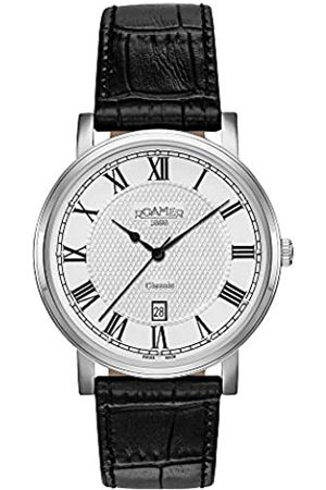 Roamer Men's Quartz Watch with Dial Analogue Display and Leather Strap 709856 41 22 07