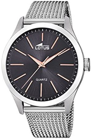Lotus Mens Analogue Classic Quartz Watch with Stainless Steel Strap 18570/4