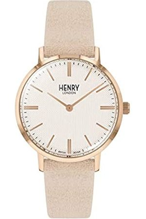 Henry Unisex Adult Analogue Classic Quartz Watch with Leather Strap HL34-S-0342