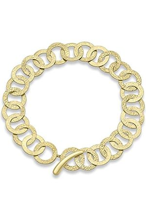 Carissima Gold 9 ct Gold Hammered Rings Bracelet of 19 cm/7.5 inch