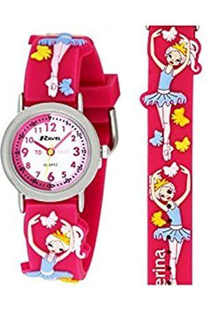 Ravel Children's 3D Pink Ballerina Time Teacher Watch