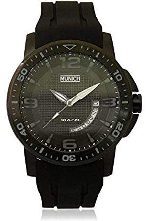 Munich Unisex Adult Analogue Quartz Watch with Rubber Strap MU+127.1A