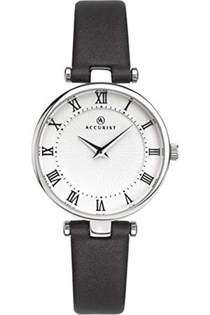 Accurist Womens Analogue Classic Quartz Watch with Leather Strap 8205