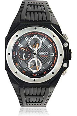 Munich Unisex Adult Analogue Quartz Watch with Rubber Strap MU+115.1A