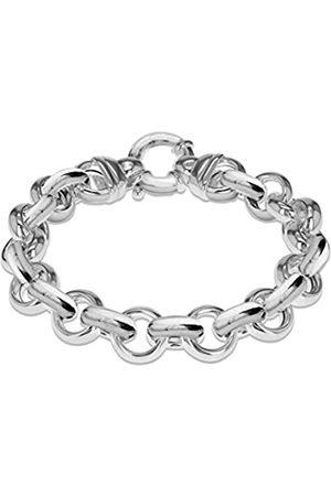 Tuscany Silver Women's Sterling 15.7 mm Belcher Chain Polished Large Spring Ring Bracelet of Length 21 cm/8 Inch