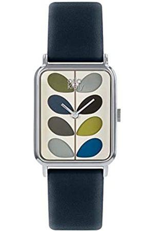 Orla Kiely Unisex Adult Analogue Classic Quartz Watch with Leather Strap OK2241