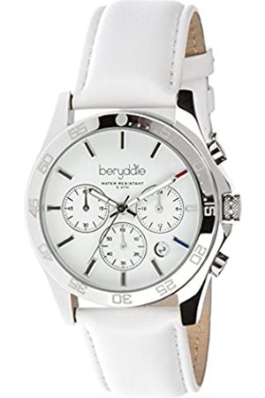 Berydale Women's Quartz Watch with Leather Band, Chronograph with Quartz Movement