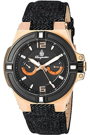 Burgmeister Men's Quartz Watch with Dial Analogue Display and Fabric and Canvas Bracelet BM220-922-1