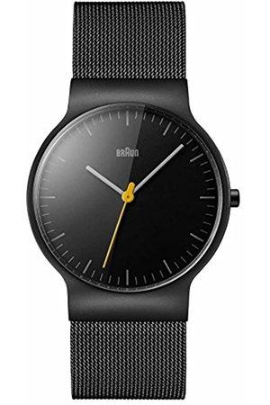 von Braun Men's Quartz Watch with Dial Analogue Display and Stainless Steel Bracelet BN0211BKMHG