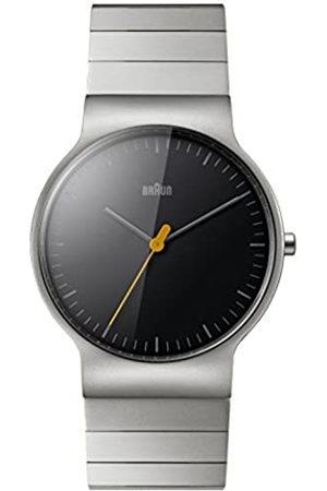 von Braun Mens Analogue Classic Quartz Watch with Stainless Steel Strap BN0211BKSLBTG