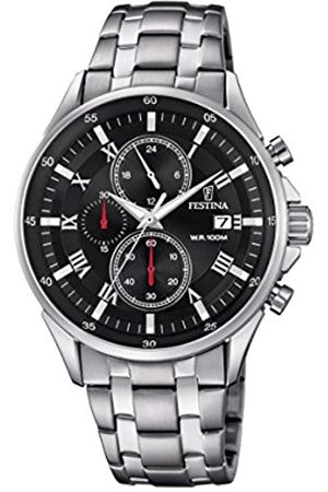Festina Men's Quartz Watch Chronograph Display and Stainless Steel Strap F6853/4