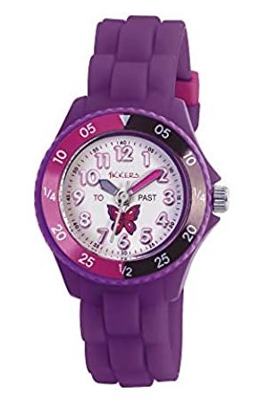 Tikkers Girls' Analogue Quartz Watch with Rubber Bracelet - TK0041