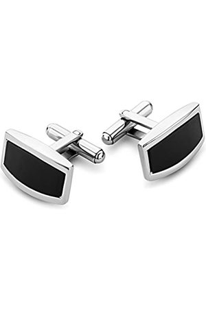 Miore Stainless Steel Cufflinks with Black Onyx CM002