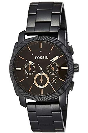 Fossil Machine Mid-Size Chronograph Stainless Steel Watch / Water Resistant Analogue Men's Watch with Quartz movements - Stopwatch and Timer Functionality